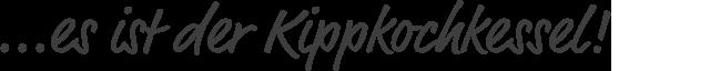 Kippkochkessel
